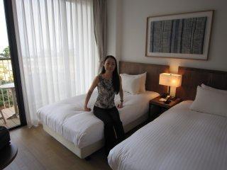 Phòng có hai giường theo tiêu chuẩn rộng 31 mét vuông