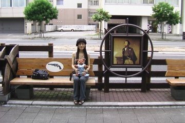 Sitting beside Ryoma's picture...how can I resist!?