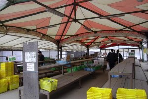 The fruit, vegetables and flower open air marketplace