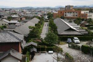 The 2 remaining rows of samurai tenement housing