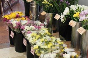 贈答用・自家用など様々な用途に応じた美しい花が揃う