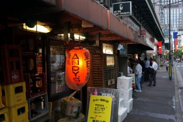 <p>As with many Japanese restaurants, especially izakayas, do not judge them by their outside appearance. Andy&#39;s Shin Hinotomo is just a short walk from Yurakucho Station</p>