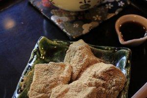 seasonal special menu in spring ทานกับ traditional green tea