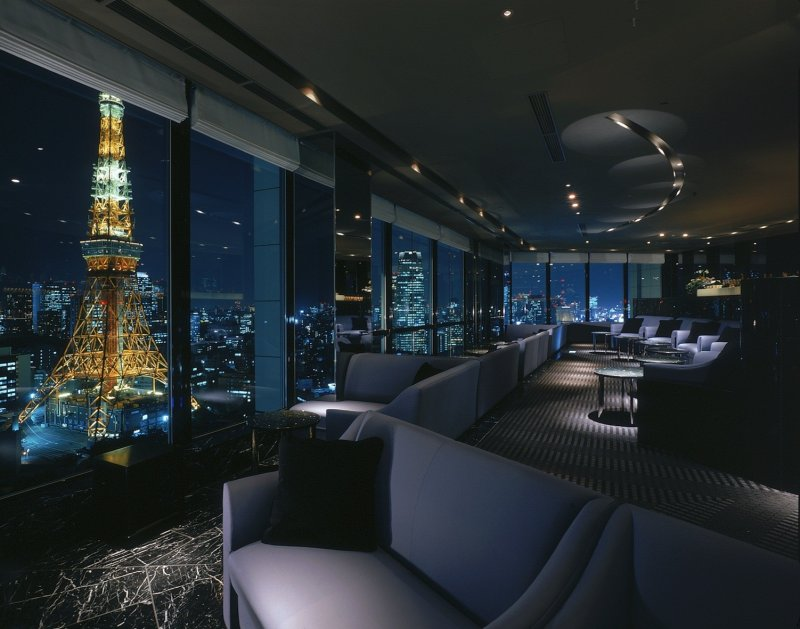 <p>The Stellar Garden Sky Lounge on a clear night</p>