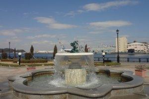 Fountain inside the park.