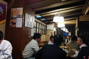 Inside the tatami seating area fills up quickly even on weeknights.