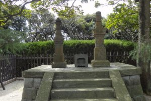 """These gravestones were typical old Samurai style. We call it """"Hokyo-in-to."""""""