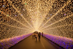 Tunnel of Light, particularly popular with young couples..