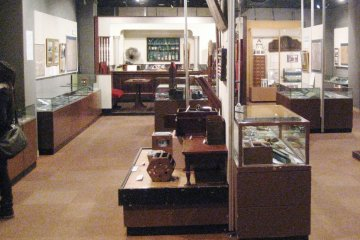 Upstairs, personal objects are on display