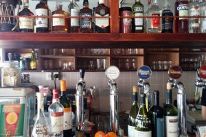 An extensive bar makes August Beer a great place for a drink.