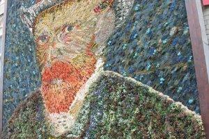 รูปแวนโกะ จากดอกไม้ใบหญ้า