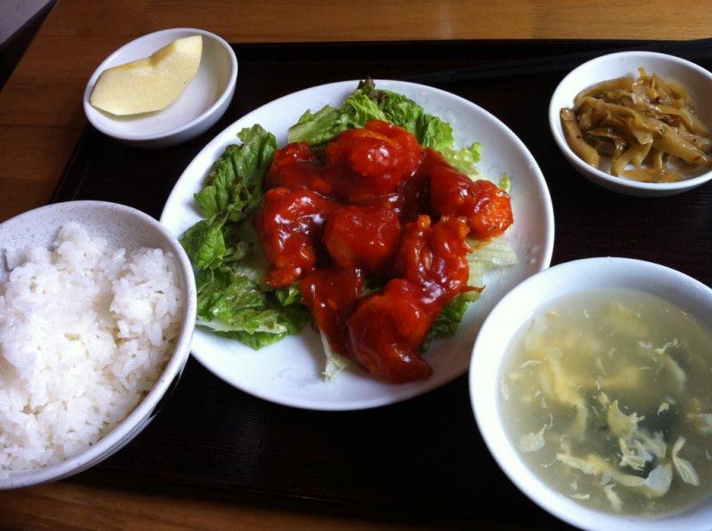 <p>Ebi-chili set &yen;1,000</p>