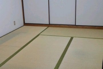 The traditional tatami room for rent