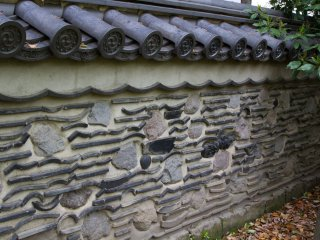 ... they are really cool. Using old stones and broken roof tiles from the past keeps the history somewhat alive—very nice idea.