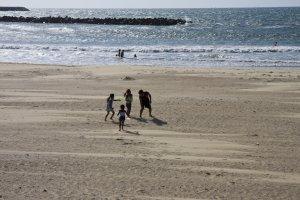 広い砂浜を独り占めして楽しもう。走ろうが何をしようが自由だ!