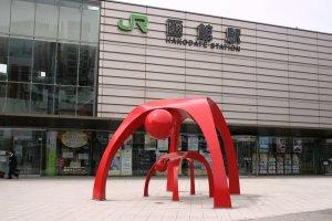 หน้าสถานี JR Hakodate