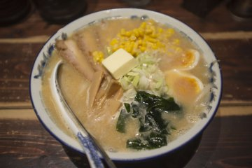 <p>Third day: Butter miso ramen, with corn, a block of butter and generous servings of ingredients yet again.</p>