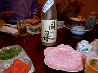 One of Fukui's local sake, 'Oka-no Izumi', fresh from the brewery!