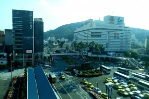 View of Tokushima Station area seen from the Tokushima Station building