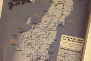 เส้นทางที่ JR EAST PASS สามารถไปได้