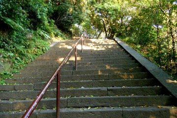 <p>Climb the stairs to reach the ruins of East Second Keep</p>