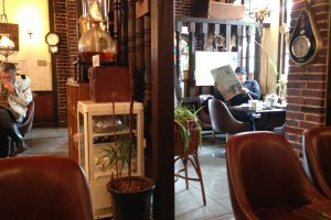 Relax with a newspaper by the window in this airy coffee and tea house next to Miyazu Station