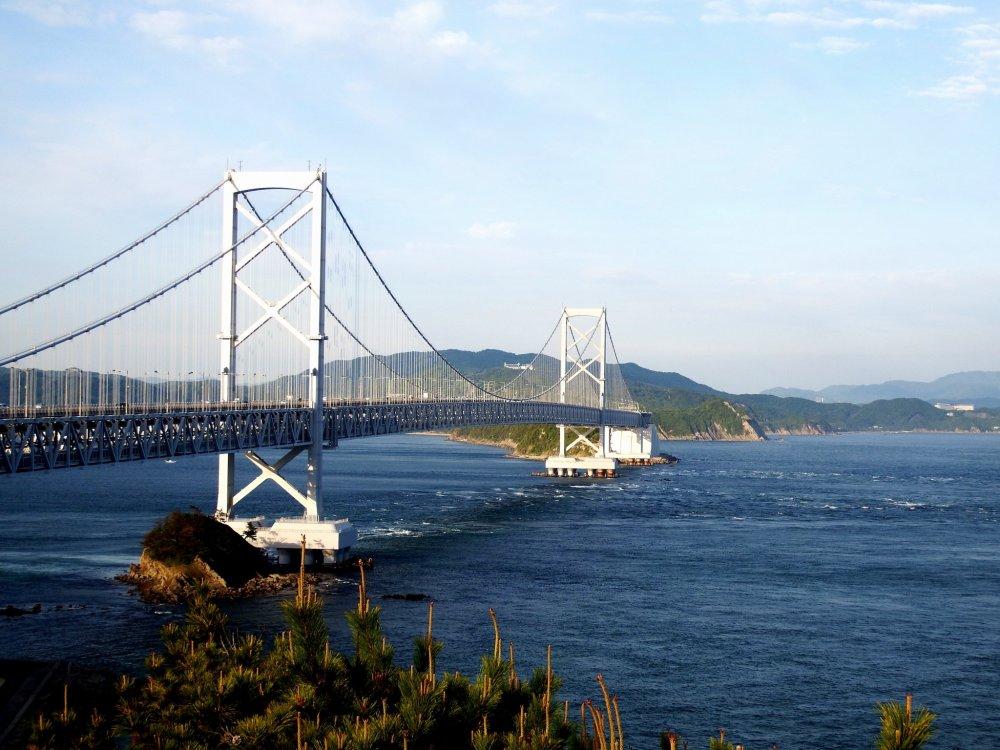Great Naruto Bridge, which connects Tokushima with Awaji Island
