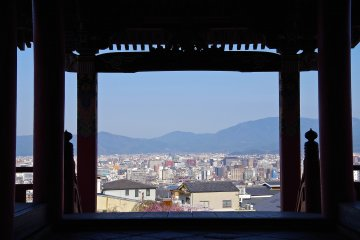<p>Morning view through Sai-mon Gate</p>