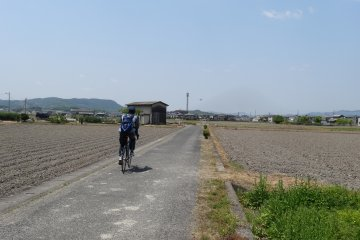 <p>The bicycle route</p>