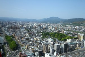 An amazing view of Kyoto and beyond.