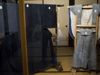 Well-preserved garments at the Kikuya Residence.