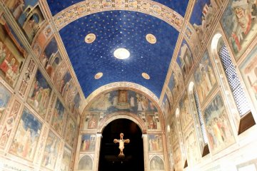 <p>The Scrovegni Chapel fresco by Giotto. You don&#39;t have to go all the way to Italy to see this</p>