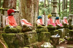 In Koya-San's cemetery - believed to be the sacred ground of Kobo Daishi