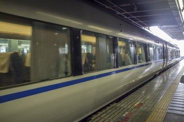 <p>The Thunderbird train at JR Kyoto Station.</p>