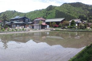 Hida Furukawa, place where you can see the satoyama.