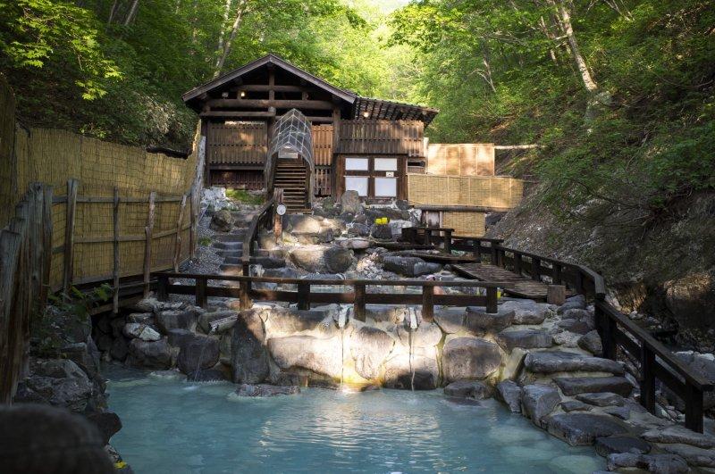 <p>The biggest open-air&nbsp;onsen in Zao&nbsp;Onsen Town</p>