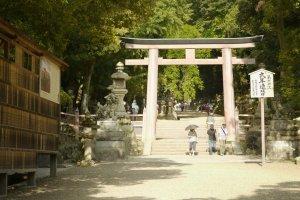 L'imposante entrée vers le sanctuaire