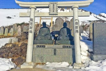 <p>One of numerous monuments near &#39;Hachi-go-me&#39; area</p>