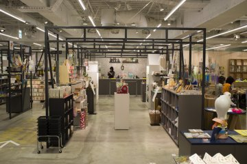 <p>The 7th floor, an arts and crafts section where customers can buy handmade goods or make their own</p>