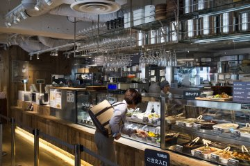 <p>The Muji cafe on the 2nd level</p>