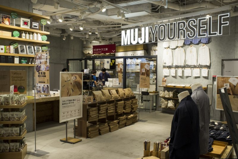 At the ground level of the Muji complex
