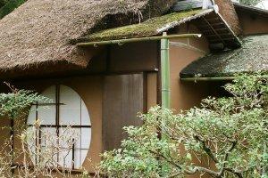Yushintei, a tea house in the garden of Sento Imperial Villa in Kyoto