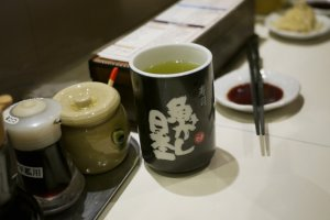 Have some tea while waiting for your sushi!