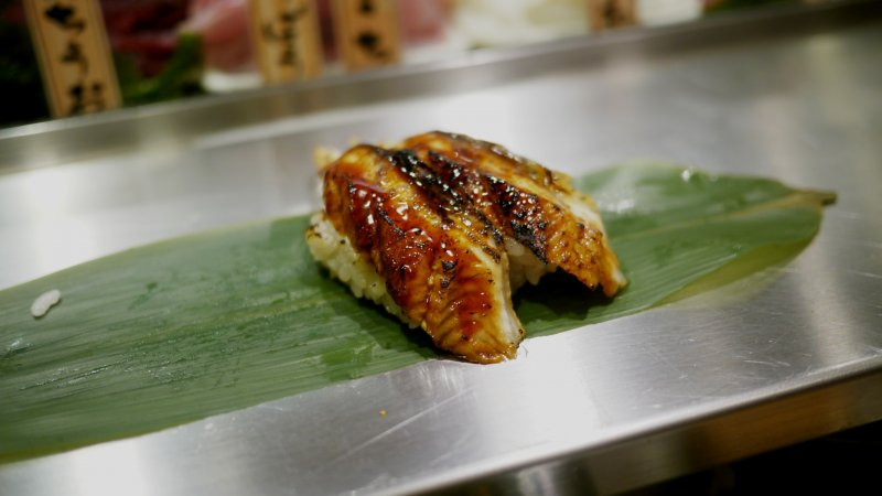<p>This slightly roasted eel sushi is absolutely outstanding.&nbsp;</p>