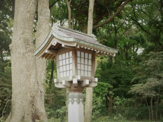 One of the lanterns surrounding the shrine.