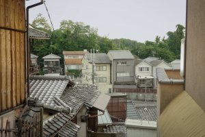 A view on the Kyoto rooftops on the way to the temple.