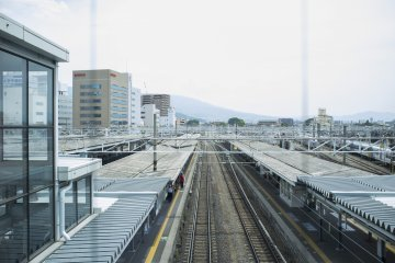 <p>View of Matsumoto Station</p>