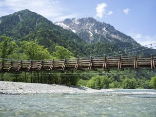 Mountainous views from Myojin bridge