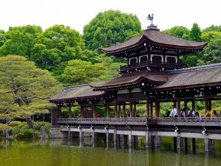 Taihei-kaku Bridge in Shin-en Garden