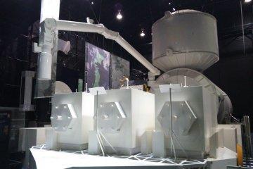 Scale replica of the Kibo research module in the Exhibition Hall
